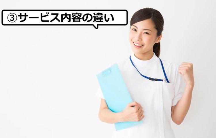 看護師の転職サイトのサービス内容の違い
